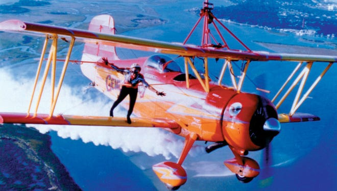 Teresa Stokes, on the wing, and Gene Soucy will perform at EAA