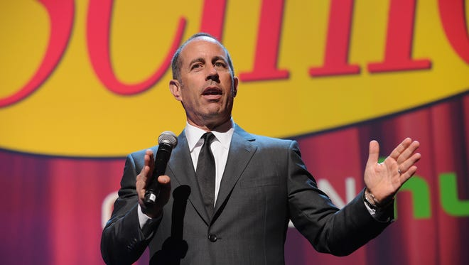 Jerry Seinfeld at the 2015 Hulu Upfront Presentation at Hammerstein Ballroom in New York City.
