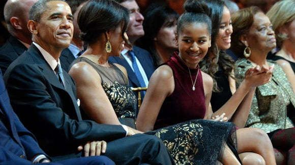 President Obama and first lady Michelle Obama, with