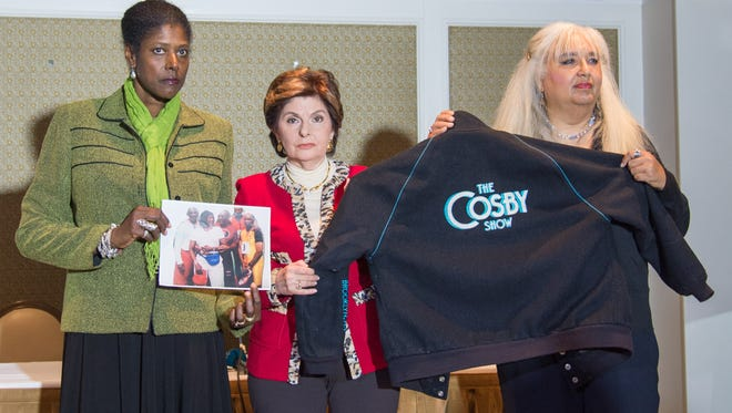 Two new Bill Cosby accusers came forward Oct. 23, 2015: Donna Barrett and Dottye flank their lawyer, Gloria Allred.
