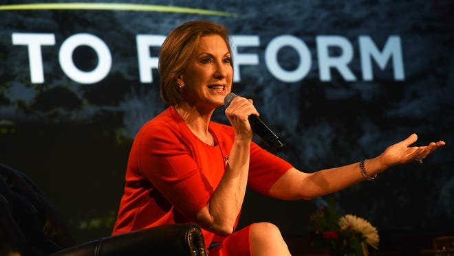 Republican candidate for President Carly Fiorina speaks during an event organized by Americans for Prosperity at the Atlantis Hotel & Casino in Reno on Dec. 16, 2015.