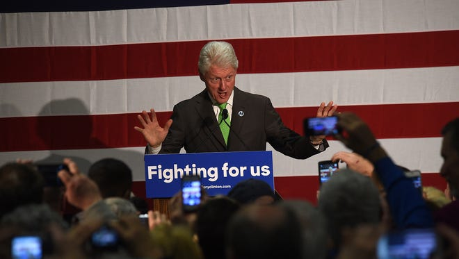 President Bill Clinton speaks during an organizing event for Democratic candidate for President Hillary Clinton at the Boys & Girls Club of Truckee Meadows in Reno on Friday.