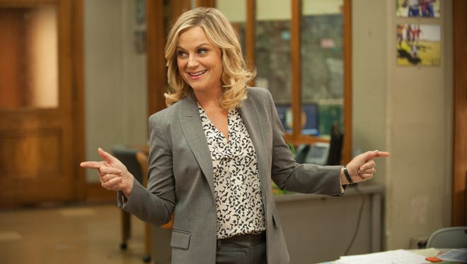 """Colleen Hayes, NBC At least there?s no question about Poehler being in a comedy series. NBC television series PARKS AND RECREATION -- """"Galentine's Day"""" Episode 617 -- Pictured: Amy Poehler as Leslie Knope -- (Photo by: Colleen Hayes/NBC) ORG XMIT: Season: 6 [Via MerlinFTP Drop]"""
