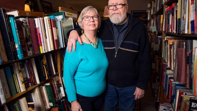 Christine Niskanen and Richard Masters, owners of The Book Vault, a used-books store in Endicott.