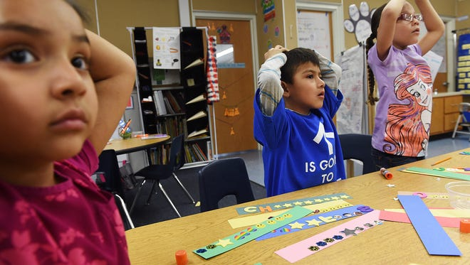 Students respond to their Corbett Elementary School teacher.