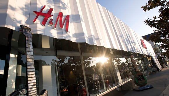A general view of the  H&M Sunset Strip storefront