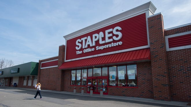 The Staples at 1290 Front St. in Binghamton is scheduled to close April 16.