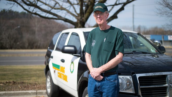 Town of Vestal dog catcher John Lenox is retiring in June after spending 41 years in the position.