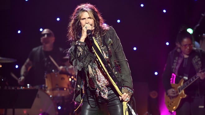 Musician Steven Tyler performs on stage during the Imagine: John Lennon 75th Birthday Concert at The Theater at Madison Square Garden on December 5, 2015 in New York City. Tyler is set to perform at the Iowa State Fair Grandstand on Aug. 20.