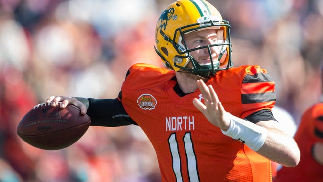 Carson Wentz of North Dakota State could be available for Philadelphia with the No. 2 pick.
