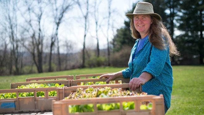 Lisa Bloodnick on her Apalachin farm.