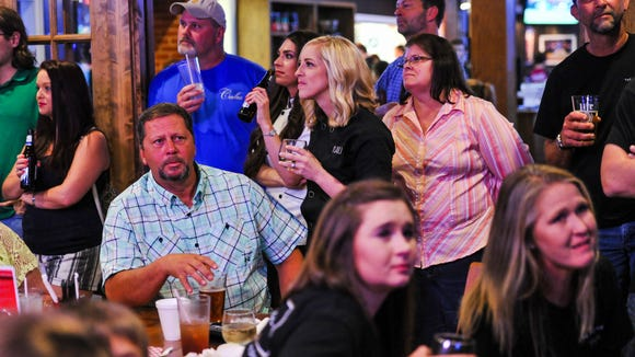 """Family, friends and supporters gathered at Pete's to watch Kayla Trahan and Fallon Bearb compete on Food Network's """"Cake Wars."""""""