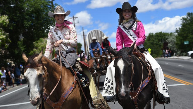 The 2016 Reno Rodeo Cattle Drive arrives into Reno on June 16, 2016.