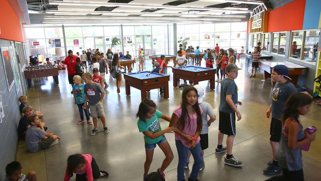 Hundreds of kids hang out at the Desert Hot Springs Boys and Girls Club, June 23, 2016.