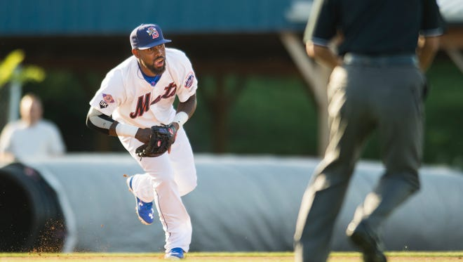Big leaguers Jose Reyes and Juan Lagares joined the Binghamton Mets during their game against the New Hampshire Fisher Cats at NYSEG Stadium in Binghamton on Thursday, June 30, 2016.