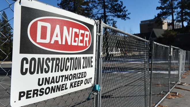 In 2015: Construction is seen at the Cal Neva Resort in Crystal Bay on Jan. 1, 2015.