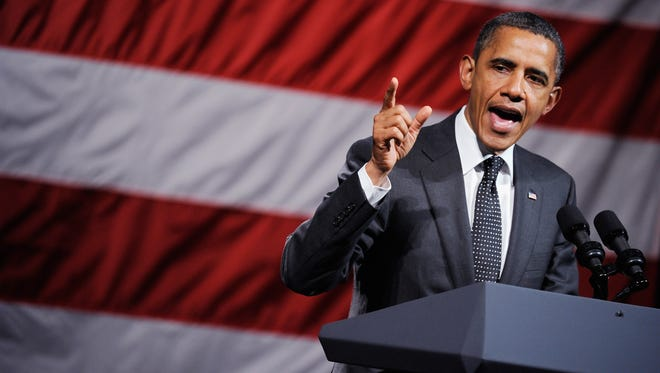WEST HOLLYWOOD, CA - SEPTEMBER 26:  U.S. President Barack Obama speaks to supporters during a fundraiser for his re-election campaign at the House of Blues on the Sunset Strip on September 26, 2011 in West Hollywood, California. Tickets for tonight's event are $250 and an optional $10,000 for a picture alongside the president. The event is part of a three-day, three-state fundraising trip.  (Photo by Kevork Djansezian/Getty Images)