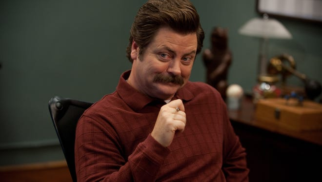 """PARKS AND RECREATION -- """"Leslie vs. April"""" Episode 507 -- Pictured: Nick Offerman as Ron Swanson -- (Photo by: Colleen Hayes/NBC)"""