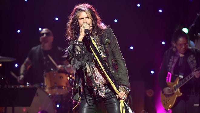 Special to The Register Musician Steven Tyler is set to perform at the Iowa State Fair Grandstand on Aug. 20. Musician Steven Tyler performs on stage during the Imagine: John Lennon 75th Birthday Concert at The Theater at Madison Square Garden on December 5, 2015 in New York City. Tyler is set to perform at the Iowa State Fair Grandstand on Aug. 20.