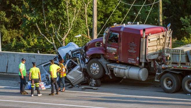 Police ticketed truck driver Allen R. Kirkpatrick in connection with a 10-vehicle crash on Route 17 in Binghamton on Aug. 25, 2016.
