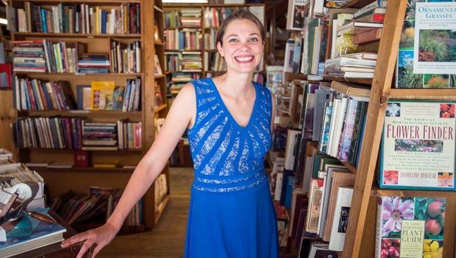 Laura Spencer Eberly, owner of Riverow Bookshop at 187 Front St. in Owego.