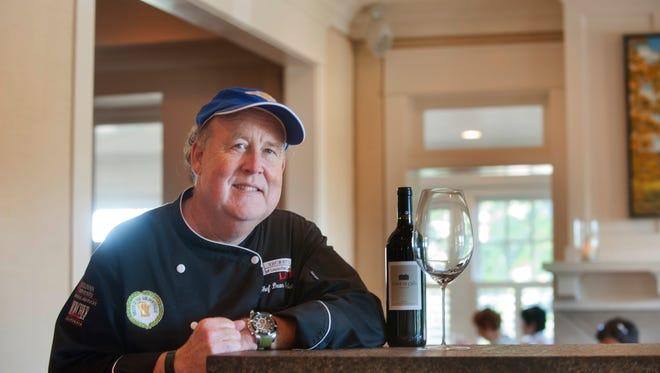 Dean Corbett, head chef and owner of Corbett's Restaurant stands in his dining room.21 September 2016