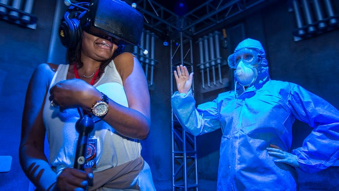 The Repository is an add-on virtual reality experience that Universal Studios Florida is offering as part of Halloween Horror Nights through October 31.