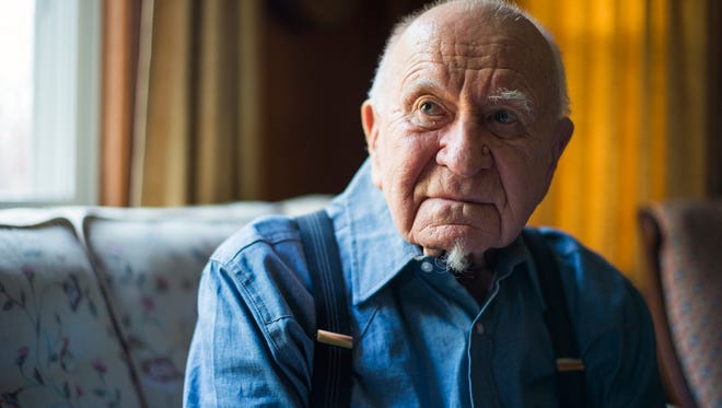 World War II veteran Les Wilmarth in his Binghamton home.