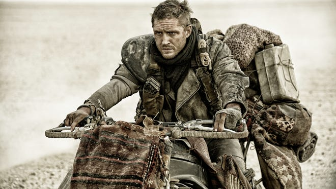 """The actor Tom Hardy is shown in his starring role in """"Mad Max: Fury Road."""""""