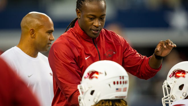 Former Immokalee High School and University of Wisconsin star defensive back Aaron Henry is a graduate assistant with the University of Arkansas, where former Badgers coach Bret Bielema leads the program. Courtesy University of Arkansas. Henry was hired as a defensive backs coach at N.C. State on Thursday, Jan. 19, 2017
