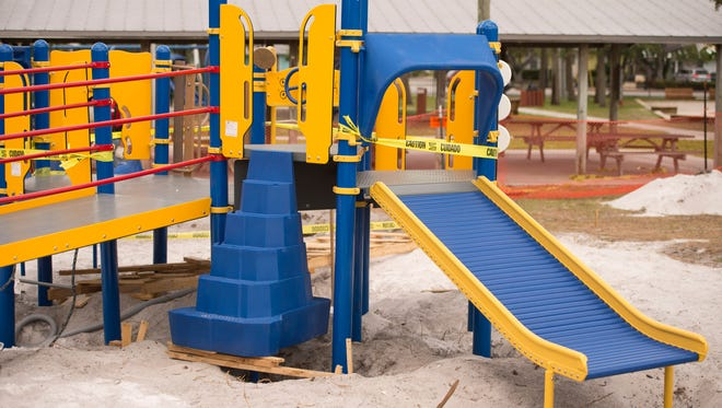 One of the playgrounds at the Barber Street Sports Complex.