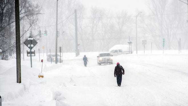 Scenes from Vestal and Endicott as a huge winter storm blanketed the area with several feet of snow on Tuesday, March 14, 2017.