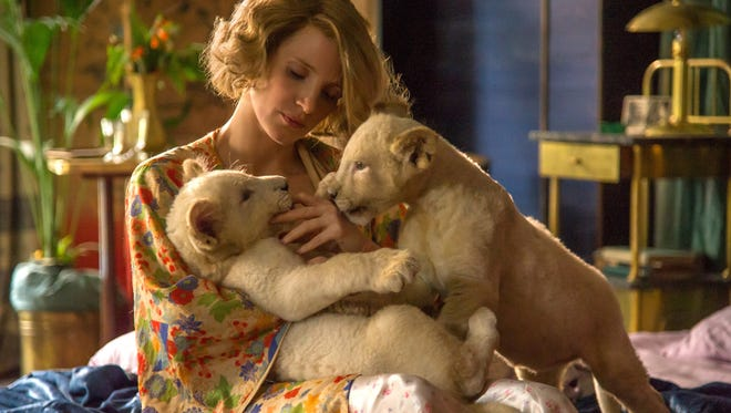 """Jessica Chastain in  """"The Zookeeper's Wife."""""""