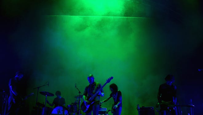Musical group Explosions in the Sky performs onstage during FYF Fest 2016 at Los Angeles Sports Arena on August 27, 2016 in Los Angeles, California.