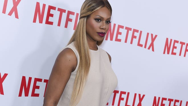 "File photo taken in 2015 shows actress Laverne Cox attending the ""Orange Is the New Black"" FYC Screening at DGA Theater in New York City."