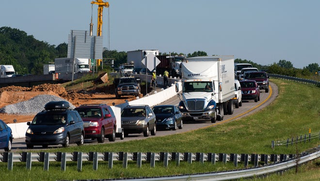 Traffic is backed up in I-385 southbound near Woodruff Road due to a fatal wreck on Friday, June 2, 2017.