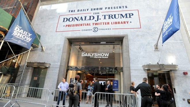 It's too early in Trump's tenure for his own presidential library, so the 'Daily Show' built him one.
