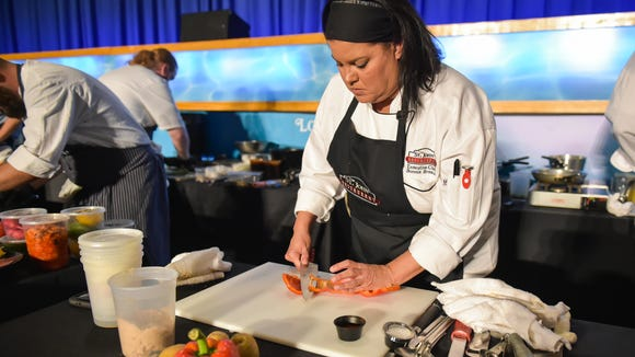Chef Bonnie Breaux at The 10th annual Louisiana Seafood Cook-Off in Lafayette - Tuesday, June 20, 2017.