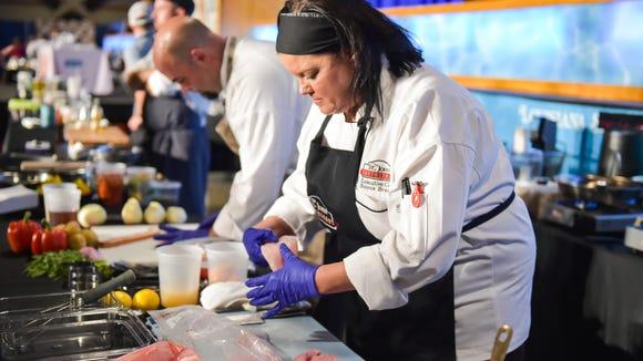 Chef Bonnie Breaux at The 10th annual Louisiana Seafood