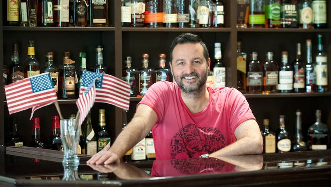 ROC owner Rocco Cadolini stands behind his bar. ROC is a new Italian restaurant at 1327 Bardstown Road.