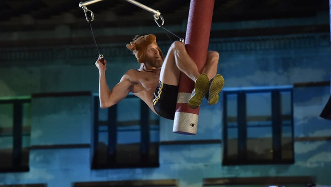 "Cape Coral teacher Morgan Wright competes in the Kansas City Qualifiers on ""American Ninja Warrior."""