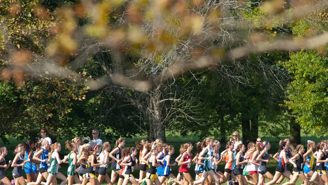 "File photo of a cross country race at E.P. ""Tom"" Sawyer Park."