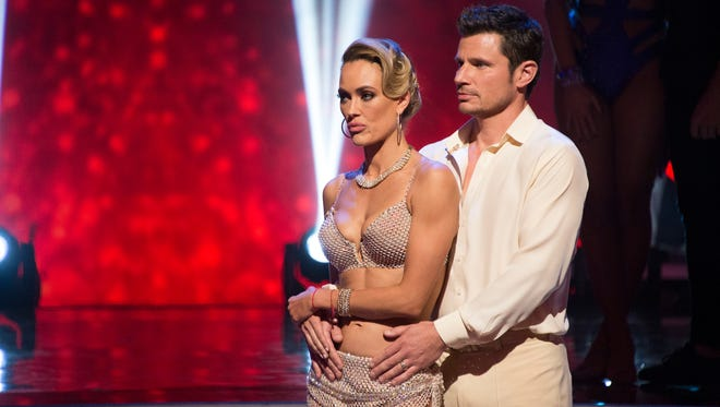 Nick Lachey and his professional dance partner Peta Murgatroyd on Tuesday's Dancing with the Stars.