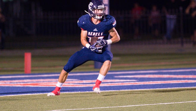 Teurlings Catholic running back Landon Trosclair is coming off a big 138-yard rushing performance with two critical long kickoff returns in the Rebels' 42-28 win over Westgate.