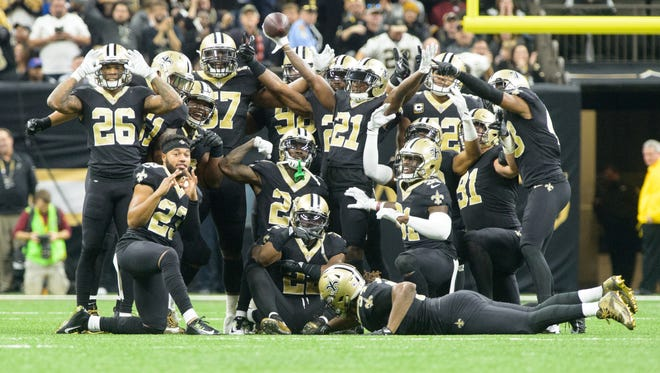 Saints' defenders are hoping to be able to pose for celebrations selfies against the Rams on Sunday.