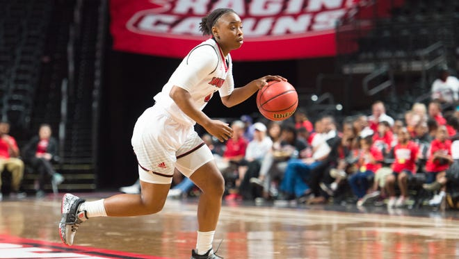 UL freshman Jomyra Mathis led all UL scorers with 12 points in the road loss to Troy on Thursday.