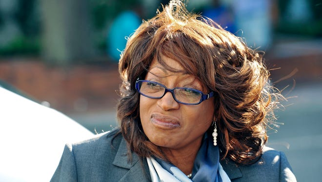 In this May 5, 2017, file photo, former U.S. Rep. Corrine Brown walks to the federal courthouse in Jacksonville.