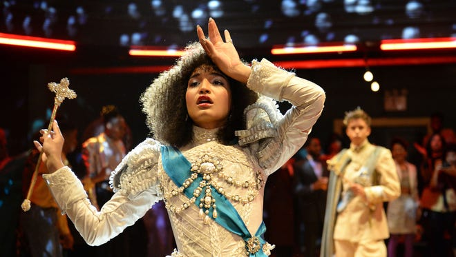 Indya Moore as Angel competes in the 1987 ballroom category S in the pilot of 'Pose.'