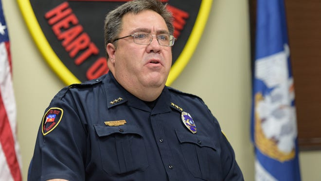 Lafayette Police Chief Toby Aguillard is shown in this Dec. 28, 2017, file photo.