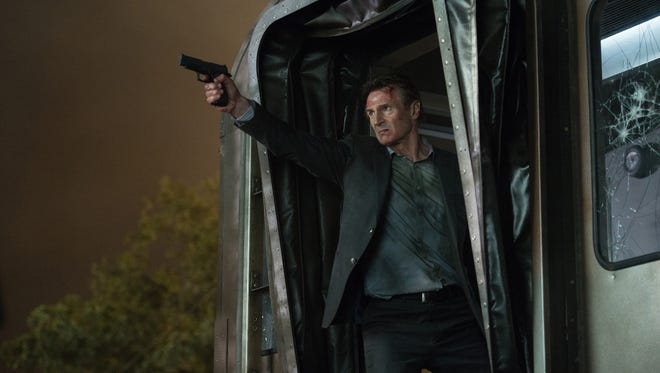 """Liam Neeson as """"Michael"""" in """"The Commuter."""" The movie opens Jan. 11 at Regal West Manchester Stadium 13, Frank Theatres Queensgate Stadium 13 and R/C Hanover Movies."""